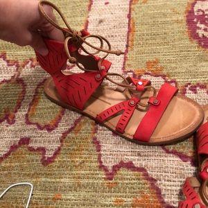 Red dolce vita sandals